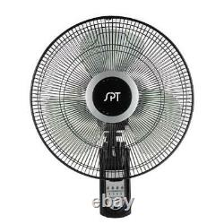 16 in. Wall mount fan with remote control adjustable height speed oscillating