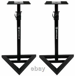 2 Pairs Rockville RVSM1 Near-Field Studio Monitor Stands with Adjustable Height