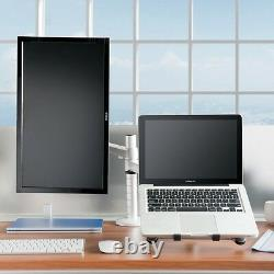 360º rotating height adjustable laptop & Monitor mount/stand/holder w duel arm