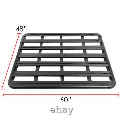 60x 48BLACK COATED ROOF RACK TOP CARGO LUGGAGE CARRIER BASKET+MOUNTING BRACKET