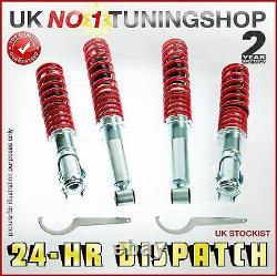 Coilover Bmw E46 Adjustable Suspension Kit + Front Top Mounts Coilovers
