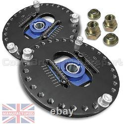 FITS 205 Peugeot 2 PIECE FULLY ADJUSTABLE TOP MOUNT (PAIR) CMB0239-2ADJ
