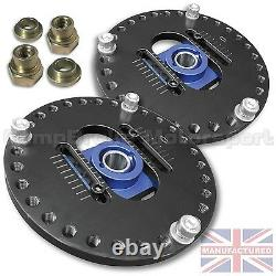 FITS TOYOTA STARLET Fully Adjustable 2 piece Camber Top Mounts
