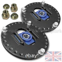 Fits Escort Cosworth New Fully Adjustable Suspension Top Mounts (pair)