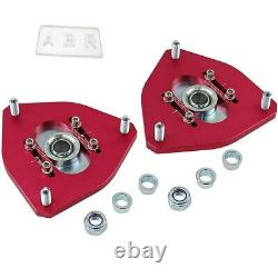 Front Coilover Camber Plate Adjustable Top Mount Fit Mitsubishi Lancer EVO 4 5 6