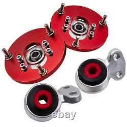 Front Top Mounts Camber Plates + Heavy Duty Control Arm Bushing fits for BMW E46