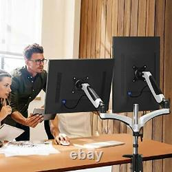 HUANUO Dual Arm Monitor Stand Height Adjustable Gas Spring Desk VESA Mount