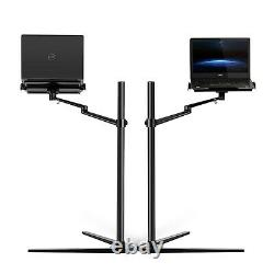Height adjustable stand mount for laptop, Macbook (10-17.3), ipad pro 12,9-sil