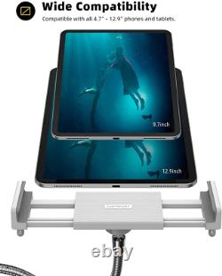 Lamicall Tablet Floor Stand Gooseneck Tablet Holder Mount with Adjustable Height