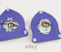 MINI Cooper R50 R52 R53 Silver Project Adjustable Top Mount Camber Plates BLUE