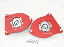 MINI Cooper R50 R52 R53 Silver Project Adjustable Top Mount Camber Plates RED