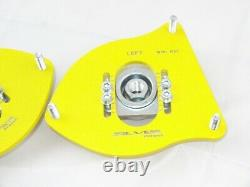 MINI Cooper R50 R52 R53 Silver Project Adjustable Top Mount Camber Plates YELLOW
