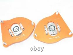 MINI Cooper R55 R56 R60 Silver Project Adjustable Top Mount Camber Plates
