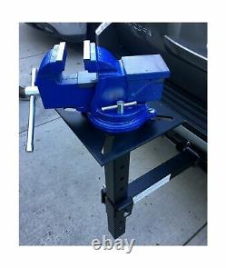 MaxxHaul 80356 Hitch Mount Vise Plate/Holder with Adjustable Height