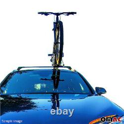 Mount Carrier Bicycle Rack Roof Mount Ceiling Top Bike Carrier Aluminum Silver