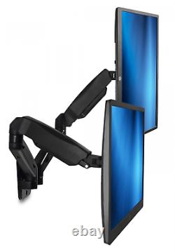 Mount-It! Dual Arm Monitor Wall Mount, Height Adjustable Gas Spring Arms