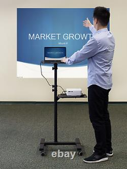 Mount-It! Mobile Projector Stand, Rolling Height Adjustable Laptop and Projector
