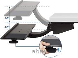 Mount-It! Sit Stand Keyboard Tray, Height Adjustable Under Desk Keyboard and of