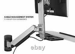 Mount-It Sit Stand Wall Mount Workstation Adjustable Height Stand Up Comput