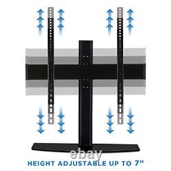 Mount-It! Universal Tabletop TV Stand Base with Height Adjustable Flat Screen TV