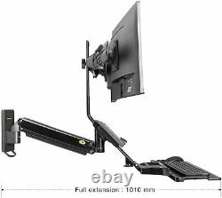 North Bayou Wall Mount Converter Height Adjustable Standing Desk Two screens