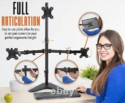 Stand Steady Freestanding 3 Monitor Mount Desk Stand Height Adjustable Trip