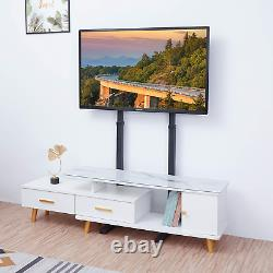 UNHO TV Floor Stand, Tall TV Stand Height Adjustable TV Mount Stand Free TV for