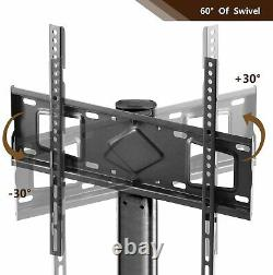 Universal TV Floor Stand with Swivel Mount Height Adjustable for 27-55 inch Flat