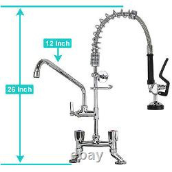YooGyy 26 Height 4-8 Inch Adjustable Center Deck Mount Commercial Kitchen Pre