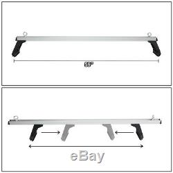 58aluminum Cargo Van Top Cross Bar Roof Bagages Mounts Gouttières Universal