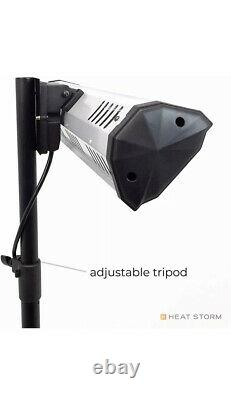 Trépied Patio Heater Infrared Portable Adjustable Height, Wall + Celling Mount